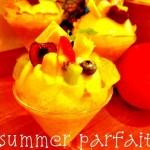 サマーパフェ 黒糖と和三盆の和風バターカステラ