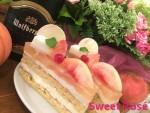 桃のケーキ新作、一足早い秋向けスイーツの登場です!