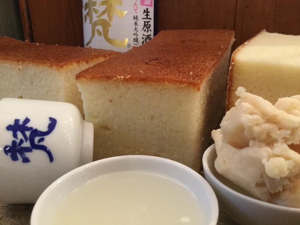 蔵元の日本酒そのままに、風味豊かなカステラが焼きあがりました!