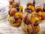パリジャンスタイルのモンブラン。秋の味覚スイートポテトと一緒にいかがでしょうか