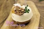 ゴルゴンゾーラピカンテのレアチーズはアーモンドとキャラメルを組み合わせて