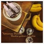 チョコレートプリン、プラリネアーモンドのオリジナルデザートの完成です