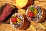 福井県産の食材で仕上げたさつまいもと梨のスイーツ