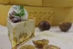 コシヒカリのミルクリゾットと西郷村の和栗のブリュレを組み合わせた秋スイーツ